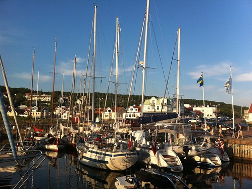 Busy harbor/trångt i Mölle hamn
