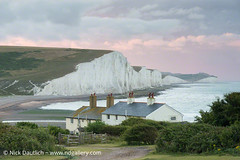 coastguard-cottages-cuckmere (Nick Dautlich) Tags: uk morning england cliff seascape beach sunrise sussex coast britain nationaltrust cottages landscapeuk