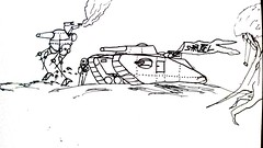strudelpunk (Jannac Fenwal) Tags: art illustration military tanks uploaded:by=flickrmobile brooklynfilter flickriosapp:filter=brooklyn strudelpunk