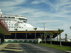 Disney Magic Bow Day 1 (eighthave) Tags: bridge cruise dock ship florida january cruising disney stern dcl starboard castawaycay disneymagic 2014 disneycruiseline portcanaveral disneymagicship