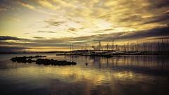 Sky Aura 2 (Pedalhead'71) Tags: seattle sunset seascape marina boat waterfront magnolia