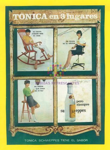 """Schweppes. """"Tónica en 3 tiempos"""". 1969"""