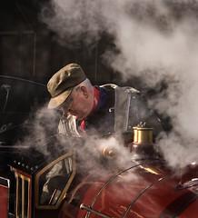 Romney, Hythe and Dymchurch Railway (Carol Drew) Tags: train kent engine railway trains steam locomotive steamengine steamtrain steamlocomotive romneyhytheanddymchurchrailway rhdr uksteam