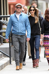 Lily Aldridge, Caleb Followill (jesuisvoila) Tags: newyorkcity blue usa brown newyork black hat sunglasses grey boots fulllength husband jeans jacket wife bluejeans blacksweater bluejacket calebfollowill brownboots greyjeans lilyaldridge {vision}:{people}=099 {vision}:{face}=099 {vision}:{outdoor}=0929 {vision}:{groupshot}=099