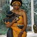 Delene Zulu Lady from South Africa Wearing Orange Somali Ethnic Cloth Havercourt Studio London 2002 025