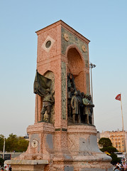 The Republic Monument At Sunset (Keith Watson Photography) Tags: monument turkey square republic istanbul googleearth taksim 93793499n00 turkeyvacation
