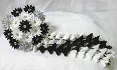 custom_black_and_white_kanzashi_by_eruwaedhielelleth-d75vd5i (EruwaedhielElleth) Tags: flowers hair japanese pin clip maiko ornament fabric hana geisha accessories folded tsumami kanzashi zaiku imlothmelui