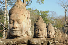 Row of Deva Statues, Angkor Thom (Oliver J Davis Photography (ollygringo)) Tags: world travel sculpture heritage history archaeology statue architecture ancient cambodia southeastasia khmer culture unescoworldheritagesite civilization angkor civilisation deva angkorthom oliverdavisphotography oliverjdavisphotography