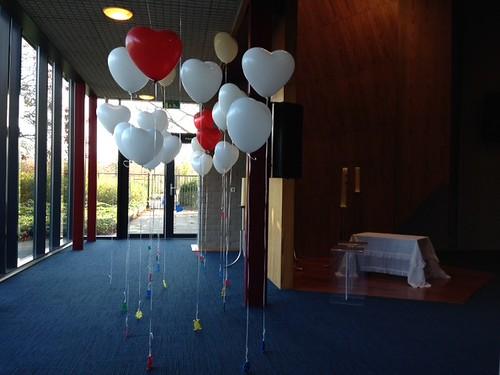 Heliumballonnen Hartballonnen Crematorium de Ommering Spijkenisse