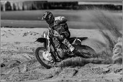 #1 Arnaud Degousee (Explored 11/3/2014) (Smudge 9000) Tags: england bw beach sport mono sand unitedkingdom racing motorcycle margate 2014 qra bxuk