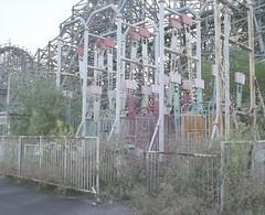 abandoned amusement park (Egg Cheung) Tags: park tree abandoned 120 film grass japan amusement decay medium 6x7 nara dreamland urbex haikyo  fujicolorpro400h fujifilmgf670professional wwwfacebookcomurbanfragment