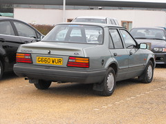 Ford Orion 1.4L - G660 WUR (Andy Reeve-Smith) Tags: ford bedfordshire orion escort dunstabledowns 14l natioanltrust chilternsgatewaycentre