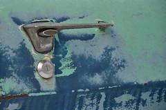 Door Handle (Paul R Lamb) Tags: auto door old blue ontario canada handle rust junkyard scrapyard rockwood autowreckers mcleans
