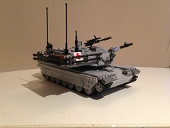 Completed M1 Abrams tank! (Retroshark) Tags: usa army tank lego m1 military weapon custom mbt abrams moc uploaded:by=flickrmobile flickriosapp:filter=nofilter vision:outdoor=0765