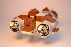 Johnny Thunder's Rocket 6 (rioforce) Tags: brown building lego space awesome bricks creation modular johnny sideburns rocket fedora mustache mmog thunder buildin steampunk johnnythunder legouniverse rioforce modularbuild