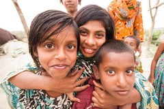 Chokehold (Universal Stopping Point) Tags: portrait kids children hug wideangle embrace bangladesh mongla