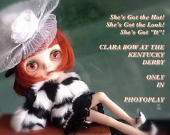 Blythe-a-Day, May, 2014, Day 3: Clara Bow Does the Derby