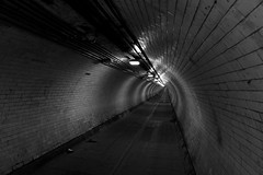 The Foot Tunnel (will668) Tags: blackandwhite bw water thames river underground riverthames emptyspace leadinglines thethames woolwichferry throughthetunnel woolwichfoottunnel