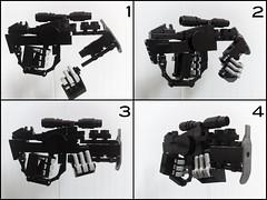 SN-094 Rifle Functions (Exius_) Tags: man black brick handle grey gun hand lego rifle hard wip marks suit weapon sniper functions grip stud function weapons mecha mech reload marksman exo hardsuit exius sn094