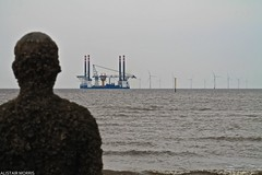 IMG_3565 (a1i25) Tags: water liverpool canon bay boat place wind farm offshore another antony gormley turbines 1100d