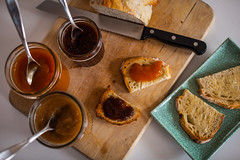 Editing snack (tmo-photo) Tags: bread plum homemade apricot jam applebutter dutchoven noknead