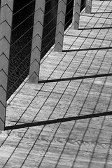 #45: Shadows (aussiegall) Tags: bw fence shadows rail 45 planks 52in2014