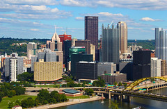 Steel City (Eridony) Tags: urban skyline downtown pittsburgh cityscape pennsylvania goldentriangle centralbusinessdistrict alleghenycounty