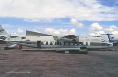 N5098A - 1960 build Fairchild F-27, still extant at El Mirage, CA in 2013 (egcc) Tags: friendship aviation warehouse 80 fairchild elmirage marana f27 jetprop pinalairpark mzj kmzj n5098a hk1140 hl5203