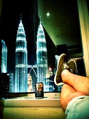 A killer view from my room, Kuala Lumpur!