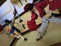 Who is better? (Churjin) Tags: great x samurai kenshin kanu guardians himura rurouni ikkitousen revoltech battousai figma