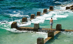 Beach pool (.amoi.) Tags: ocean sea summer man beach wet water pool swim coast surf dive fresh swimmer seaspray oceanpool beachpool