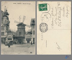 PARIS - Le moulin Rouge (bDom) Tags: paris 1900 oldpostcard cartepostale bdom