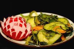 Salad (GlennCantor (theskepticaloptimist)) Tags: food cliff seaweed salad anniversary cucumber peppers radish pauline shogatsu japanesenewyear