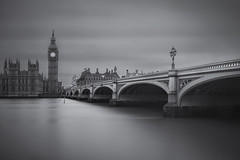 Interceptions Dream... (JH Images.co.uk) Tags: uk bridge blackandwhite bw reflection london art water westminster architecture clouds time parliament bigben riverthames selenium