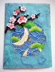 All-purpose handmade card 61 (tengds) Tags: pink flowers blue white green bird waves card papercraft japanesepaper washi handmadepaper handmadecard chiyogami flyingbird treecanopy saapaper yuzenwashi thaisaapaper tengds allpurposecard
