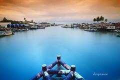 Kampung Manggar (Hery Awan) Tags: landscape boat fisherman balikpapan manggar heryawan