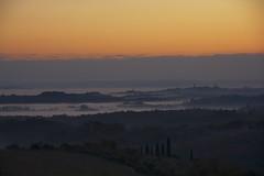 Looking at a foggy Siena from Chianti [EXPLORE] (Antonio Cinotti ) Tags: sunset italy fog clouds landscape nikon italia tramonto nuvole foggy hills explore tuscany chianti siena toscana paesaggio colline chiantishire pievasciata campagnatoscana d7100 nikon18300 nikond7100
