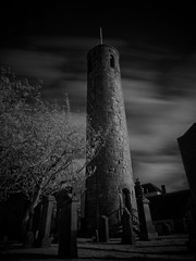 abernethy kirk and round tower in infrared III-5030728 (E.........'s Diary) Tags: tower cemetery graveyard st mono perthshire graves round infrared brides eddie kirk abernethy rossolympusomdem5markiiscotlandmay2016