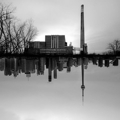 generation. (jonathancastellino) Tags: leica trees toronto abstract reflection tree tower abandoned skyline architecture square diptych ruins decay ngc ruin stack m poet series derelict hopkins hearn inscape inscapes