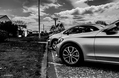 Cars Parked in The Car Park!! (BGDL ~ Falling Behind But Will Catch Up!!) Tags: urban blackandwhite cars monochrome vehicles carpark week43 7daysofshooting nikond7000 afsnikkor18105mm13556g blackandwhitewednesday bgdl lightroomcc