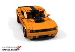 Dodge Challenger - 2008 (lego911) Tags: auto usa car america model lego muscle render gap dodge hemi chrysler 2008 coupe generation challenge v8 challenger cad mov 81 povray ldd miniland foitsop lego911 generationgapgeneration