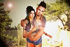 #4 - Its Summer time! (Iyath) Tags: summer black sexy hug couple romance secondlife romantic hugs accesories