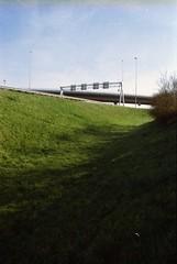 Coenplein junction, Amsterdam, NH (Jickatrap) Tags: film amsterdam analog 35mm pentax suburbia infrastructure    urbanlandscape  kodakgold  pentaxmz50 filmphotography  gold200   newtopographics      photographersontumblr