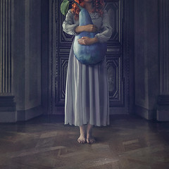 Someplace Else (nikolina petolas) Tags: art dark photography surrealism interior digitalart surreal fantasy pear fineartphotography nikolina digitar petolas nikolinapetolas