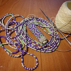 work process (victoria_beads) Tags: beautiful beauty necklace beads women knitting handmade embroidery jewelry bracelet ukrainian beadwork seedbeads beadcrochet workprocess japanbeads victoriabeads