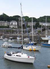 1752 Yachts in Porthmadog harbour (Andy panomaniacanonymous) Tags: 20160606 cymru gwynedd marina masts mmm northwales photostream porthmadog wales welshhighlandrailway yacht yyy