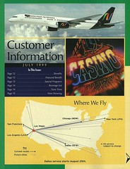 National Airlines where we fly map, 1999 (airbus777) Tags: lasvegas 1999 network tbt routemap nationalairlines