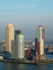 Kop van Zuid, Rotterdam (twiga_swala) Tags: world new york newyork holland dutch skyline architecture port buildings hotel rotterdam skyscrapers toren neworleans center highrise montevideo van maas hoge kop euromast zuid nieuwe panorma zuidholland worldportcenter europoort