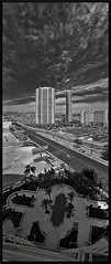 Non cooperator (VegasBnR) Tags: nikon vegas lasvegas turnberry turnberrytowers city poolside bw vertorama vert panorama pano