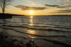 waving Hello Again (Barbara A. White) Tags: sunset canada spring waves ottawariver constancebay